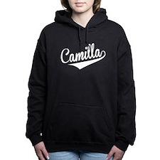 Camilla, Retro, Women's Hooded Sweatshirt