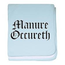 Manure Occureth baby blanket