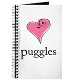 I Love Puggles! Journal