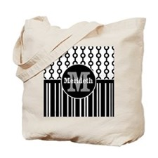 Monogram Name modern chic design Tote Bag