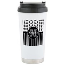 Monogram Name modern chic design Travel Mug