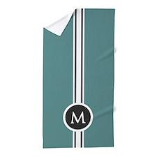 Simple Clean Modern Monogram Beach Towel