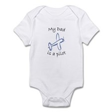 My Dad is a Pilot Airplane Infant Bodysuit