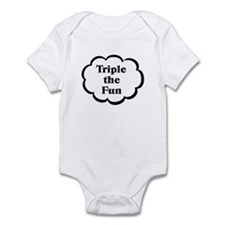 Triple fun Triplets Baby Bodysuit