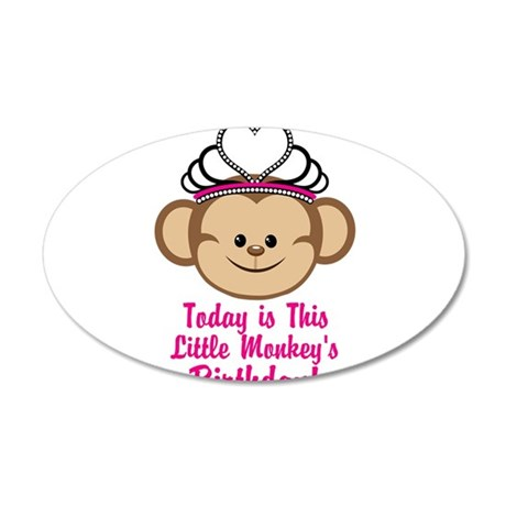Today Is This Little Monkeys Birthday Wall Decal