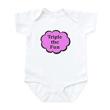 Triple fun Pink Triplets Infant Bodysuit