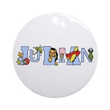 Julian's Alphabet Ornament (Round)