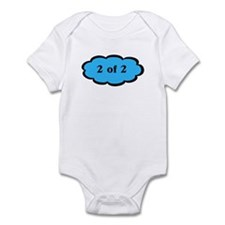 2 of 2 Blue Twins Baby Infant Bodysuit