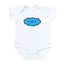 1 of 2 Blue Twins Baby Bodysuit