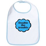 Double Trouble B Twins Baby Bib