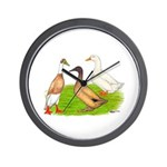Egg and Meat Ducks Wall Clock