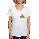 Egg and Meat Ducks Women's V-Neck T-Shirt