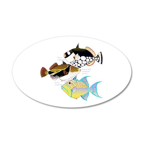 3 Triggerfish Wall Decal