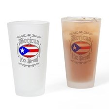 Boricua 100 Proof2 Drinking Glass