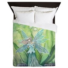Lily of the Valley Fairy Art Queen Duvet