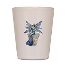 Blue Celeste Fairy Fantasy Art Shot Glass