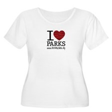 I Heart Parks Women's Scoop Neck Plus Size T-Shirt