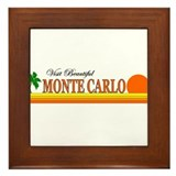 Visit Beautiful Monte Carlo Framed Tile