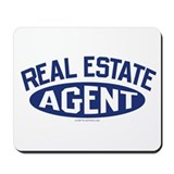 REAL ESTATE AGENT (Jeans Blue) Mousepad