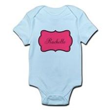 Personalizable Pink and Black Body Suit