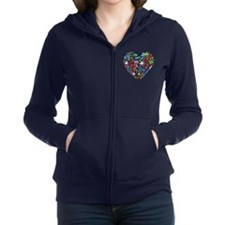 Costa Rica World Cup 2014 Heart Women's Zip Hoodie