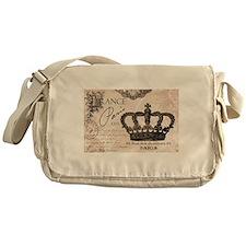 Modern Vintage French crown Messenger Bag