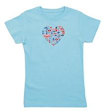 England World Cup 2014 Heart Girl's Tee