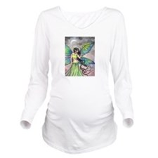 Emerald Dragon and Fairy Fantasy Art Long Sleeve M
