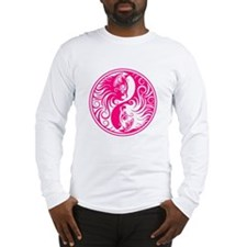 Pink Yin Yang Kittens Long Sleeve T-Shirt