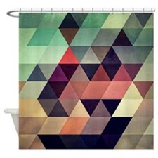 Cute Geometric Shower Curtain