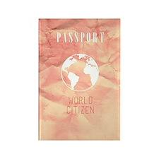 World Citizen Travel Passport Pin Rectangle Magnet
