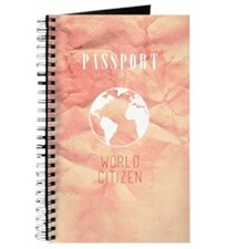 World Citizen Travel Passport Pink Journal
