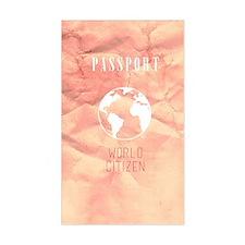 World Citizen Travel Passport  Decal