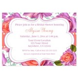 Baby shower rose Invitations & Announcements