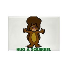 Hug a Squirrel Rectangle Magnet (100 pack)