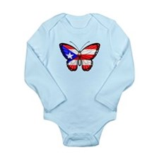 Puerto Rican Flag Butterfly Body Suit