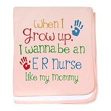 ER Nurse Like Mommy baby blanket