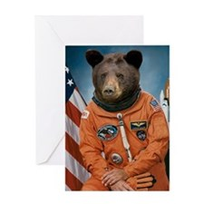 Bear Astronaut Greeting Card