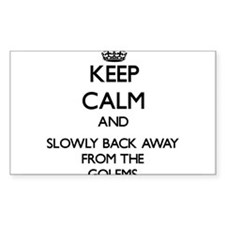 Keep calm and slowly back away from Golems Stickers