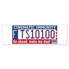 Cinematic Immunity Bumper Sticker (Dirty Harry)