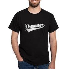 Drummer, Retro, T-Shirt