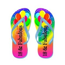 Colorful 18th Flip Flops