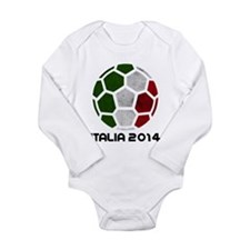 Italy World Cup 2014 Long Sleeve Infant Bodysuit