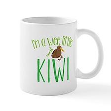 Im a wee little kiwi (New Zealand map) Mugs