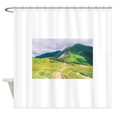 Green Mountains Shower Curtain
