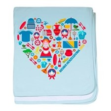 Bosnia-Herzegovina World Cup 2014 Hea baby blanket