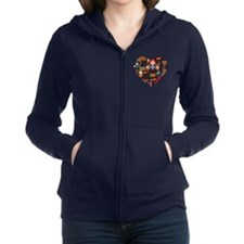 Germany World Cup 2014 Heart Women's Zip Hoodie