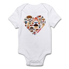 Germany World Cup 2014 Heart Infant Bodysuit
