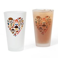 Germany World Cup 2014 Heart Drinking Glass