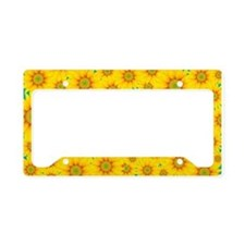Summer Sunflowers License Plate Holder